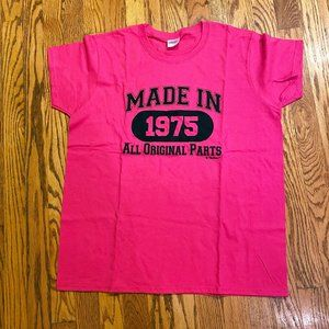 Made in 1975 All Original Parts Women''s T-Shirt L